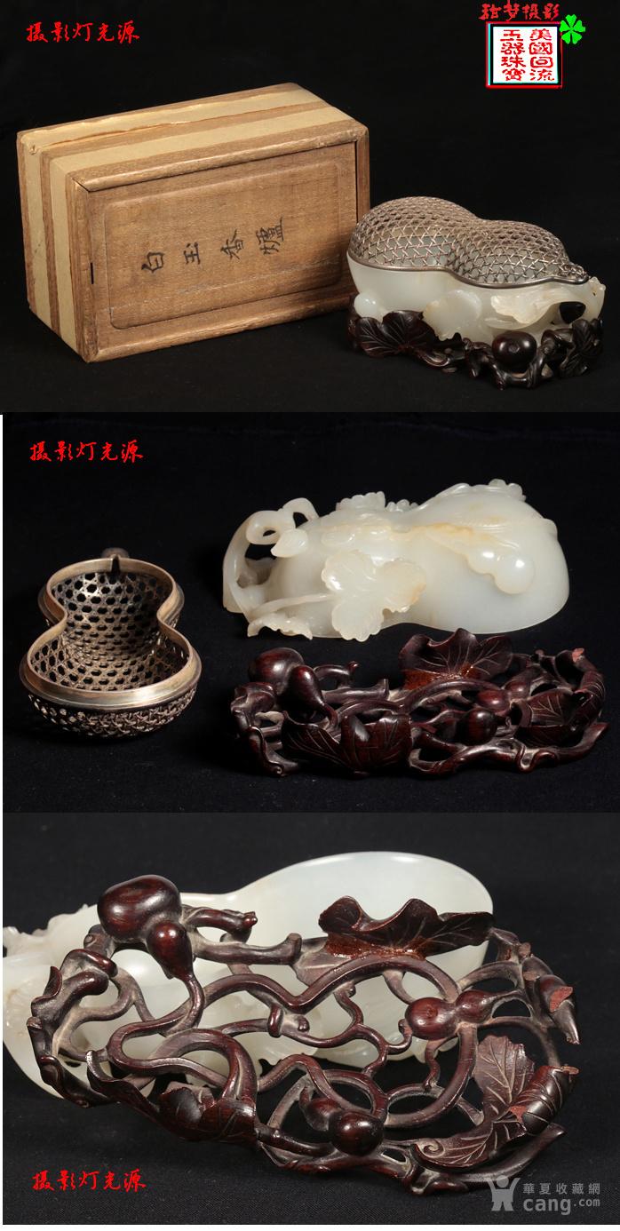 回流 大拍级 清中期高浮雕 和田白玉 福禄万代 葫芦型水丞图8