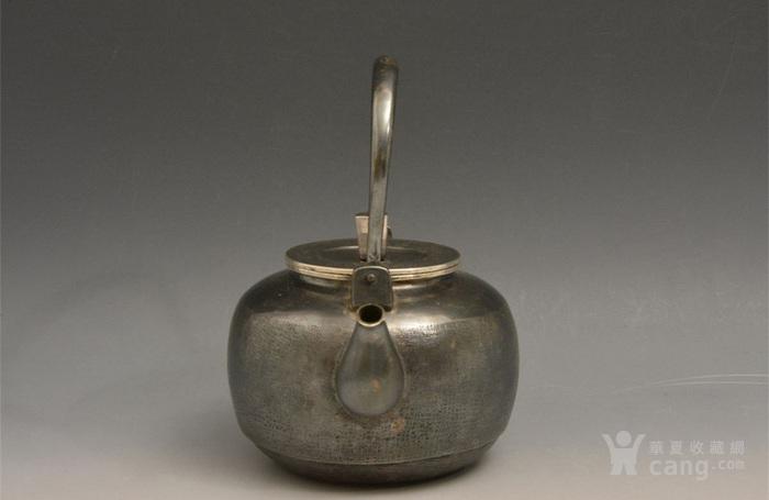 012日本银壶茶道水壶-中古造-纯银打出汤沸(750克)图2