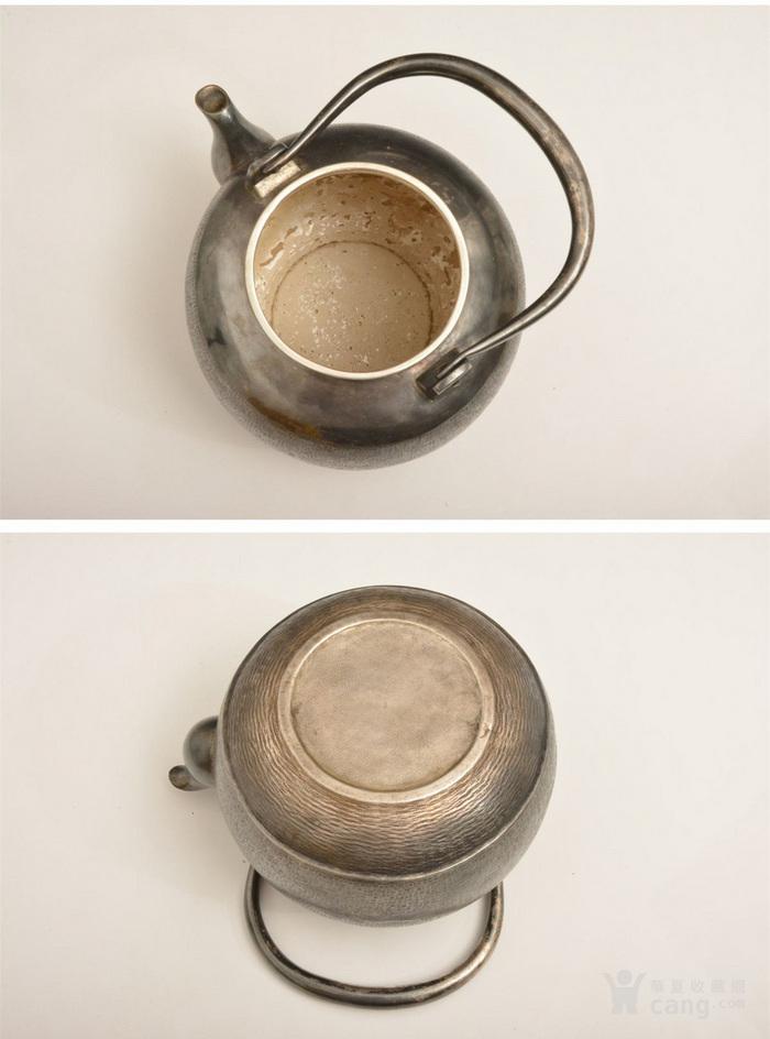 012日本银壶茶道水壶-中古造-纯银打出汤沸(750克)图6