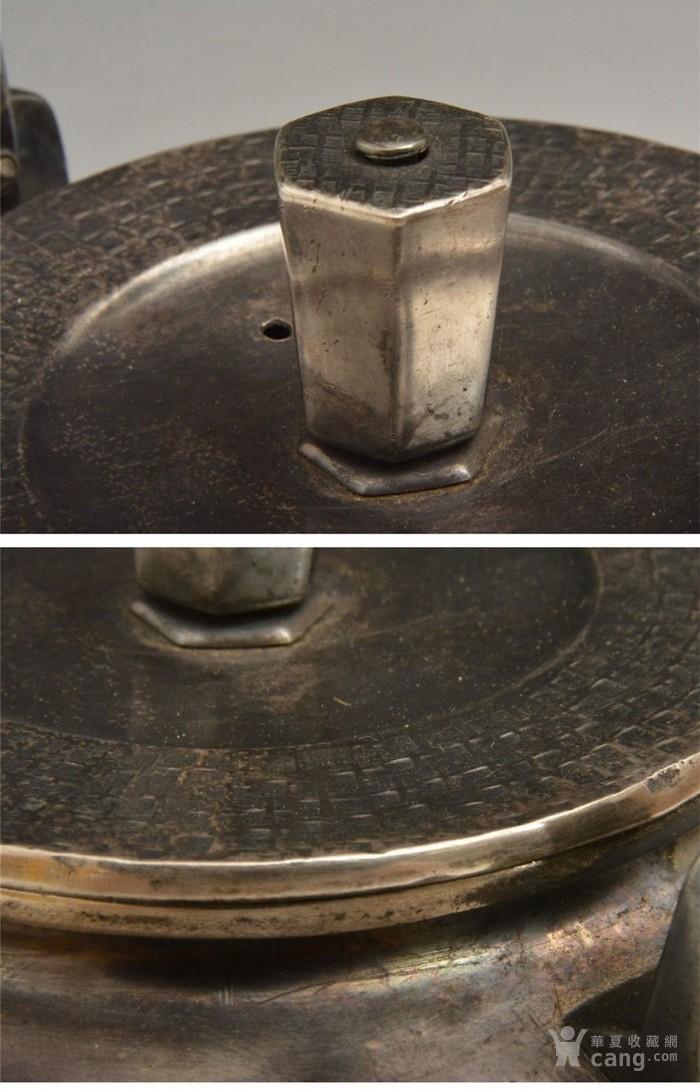 012日本银壶茶道水壶-中古造-纯银打出汤沸(750克)图7
