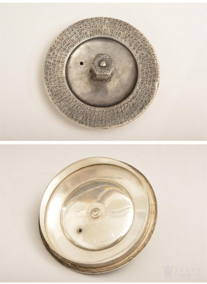 012日本银壶茶道水壶-中古造-纯银打出汤沸(750克)图8