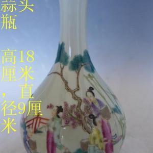 雍正粉彩人物赏瓶