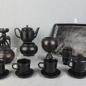 紫檀茶具15件套【醉墨轩】