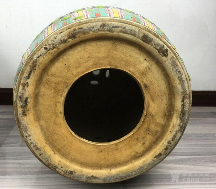 清代粉彩绘五福捧寿瓷鼓凳一对图7
