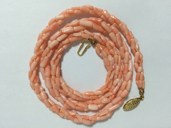 [美國回流興業坊]天然多股粉珊瑚項鏈 (國內現貨)圖4