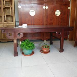 老挝酸枝王款大画案