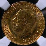 1932英国乔治五世马*1金镑 8克 CCGA评级MS63分