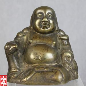 民国铜弥勒佛坐像【醉墨轩】