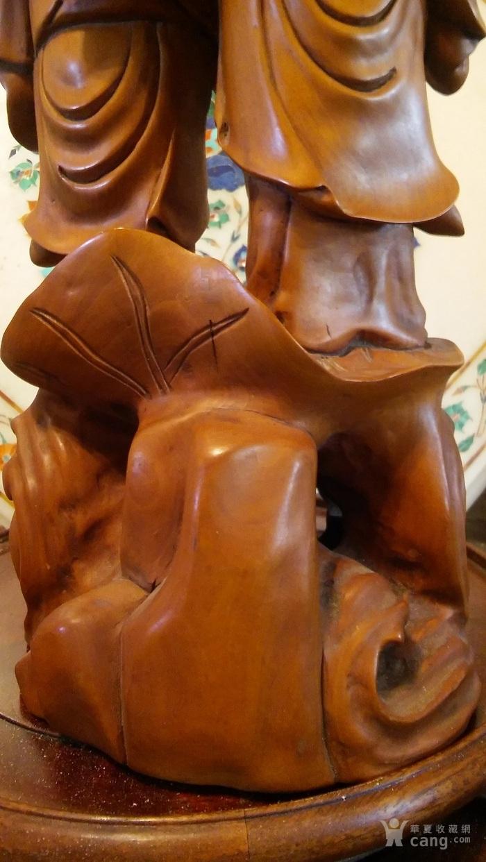 清代  小叶黄杨木雕 和合二仙 高32厘米图8