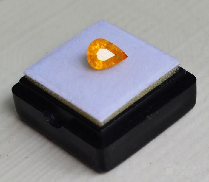 纯黄色蓝宝石 斯里兰卡纯天然水滴型1.77克拉蓝宝石图1