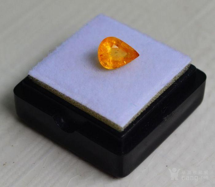 纯黄色蓝宝石 斯里兰卡纯天然水滴型1.77克拉蓝宝石图2