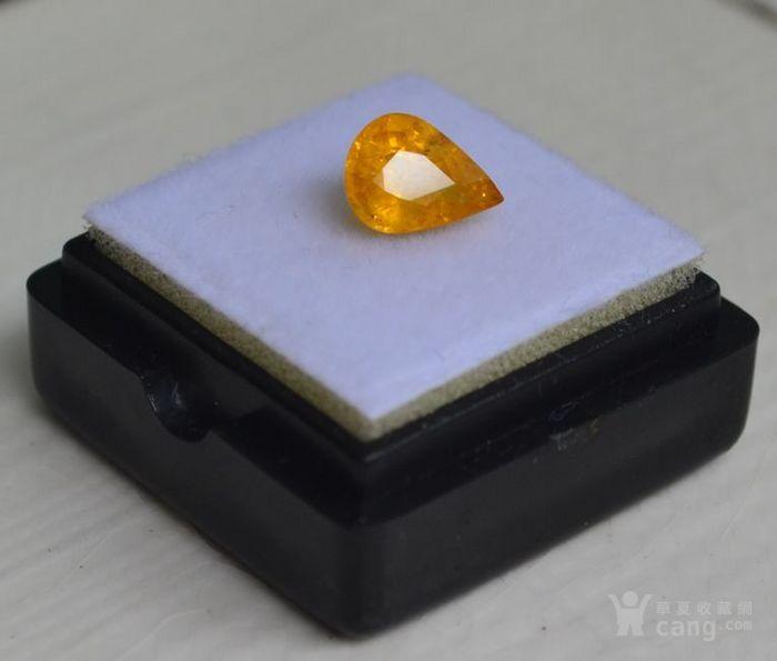 纯黄色蓝宝石 斯里兰卡纯天然水滴型1.77克拉蓝宝石图3