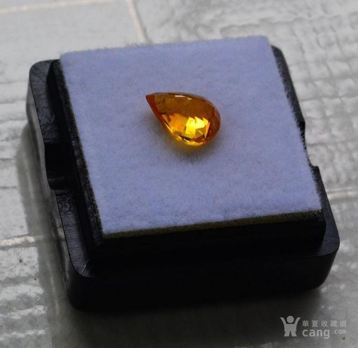 纯黄色蓝宝石 斯里兰卡纯天然水滴型1.77克拉蓝宝石图5