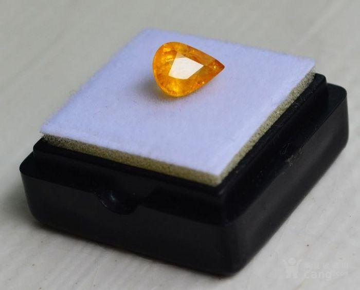 纯黄色蓝宝石 斯里兰卡纯天然水滴型1.77克拉蓝宝石图4