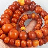 清代 63克 精品 枣红 蜜蜡 项链 一条,拒绝议价。