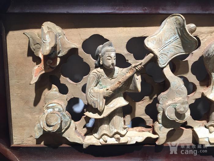 【精】------明代矿物彩人物画板一对图2