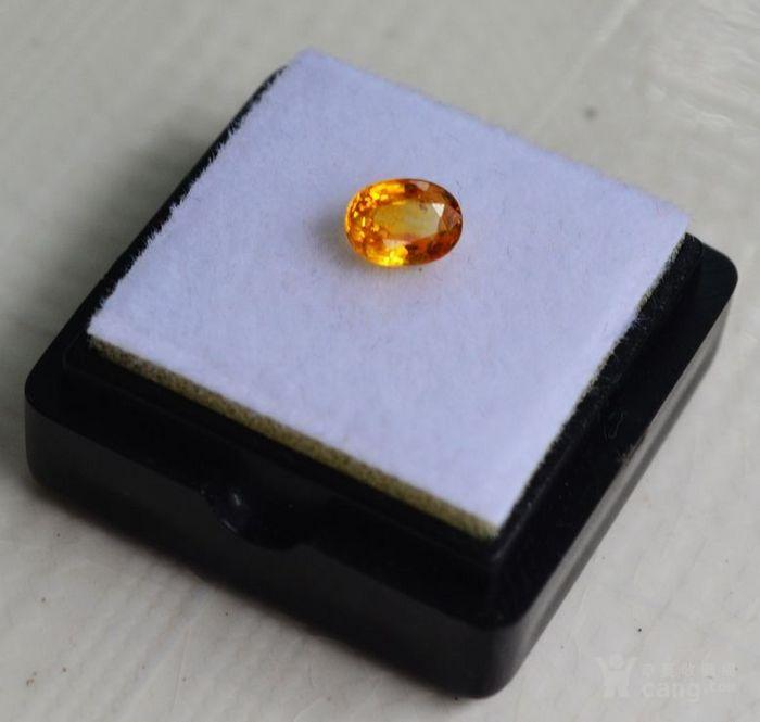 纯黄色蓝宝石 斯里兰卡纯天然椭圆型0.92克拉蓝宝石图2