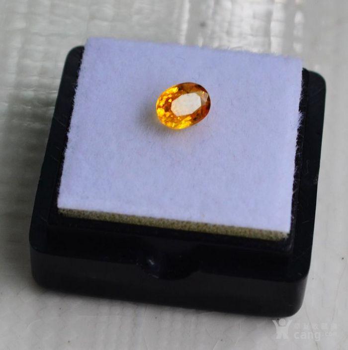 纯黄色蓝宝石 斯里兰卡纯天然椭圆型0.92克拉蓝宝石图1