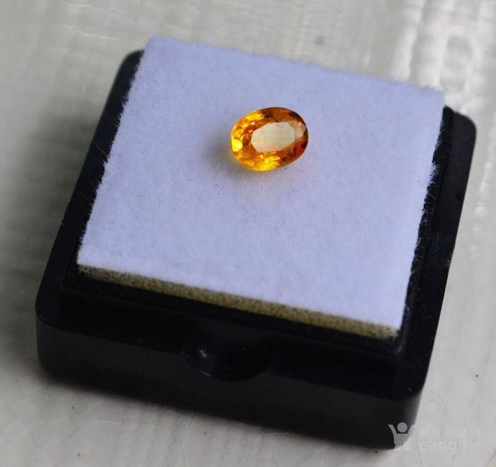 纯黄色蓝宝石 斯里兰卡纯天然椭圆型0.92克拉蓝宝石图3
