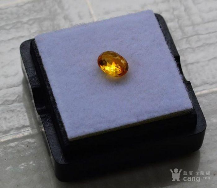 纯黄色蓝宝石 斯里兰卡纯天然椭圆型0.92克拉蓝宝石图5