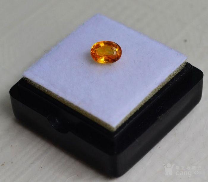 纯黄色蓝宝石 斯里兰卡纯天然椭圆型0.92克拉蓝宝石图4