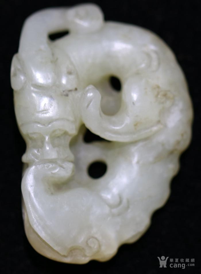 和田白玉籽料玉龙型挂件图4
