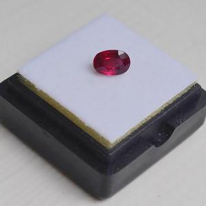 红宝石 缅甸抹谷产纯天然椭圆型1.23克拉粉红色红宝石