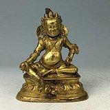 清代 铜鎏金黄财神像