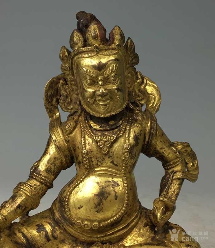清代 铜鎏金黄财神像图4