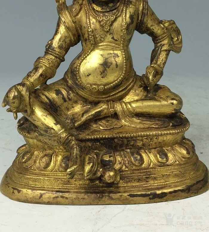 清代 铜鎏金黄财神像图5