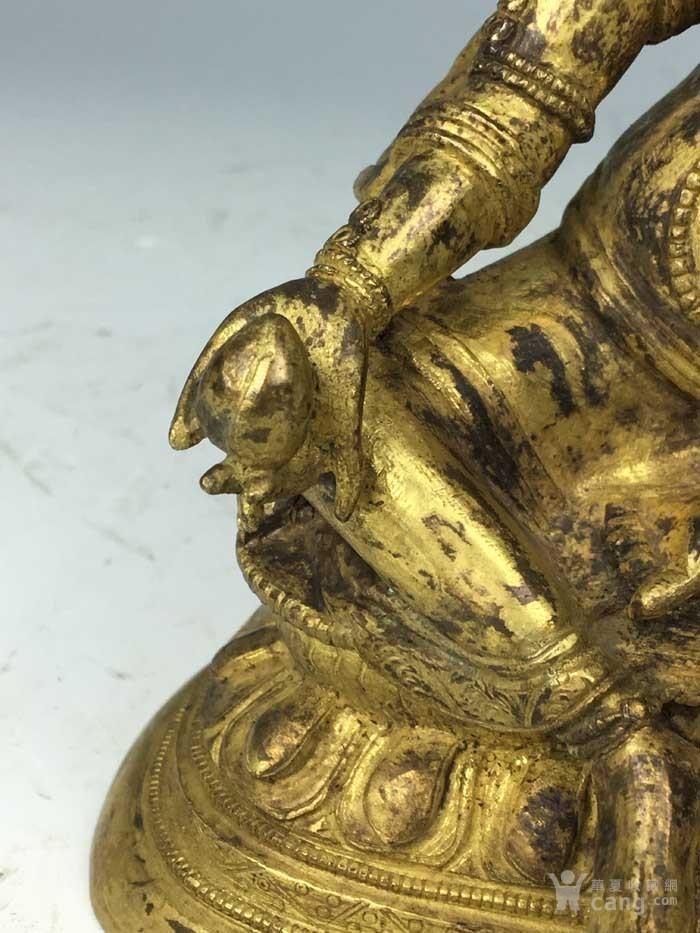 清代 铜鎏金黄财神像图7