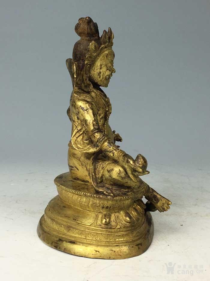 清代 铜鎏金黄财神像图8