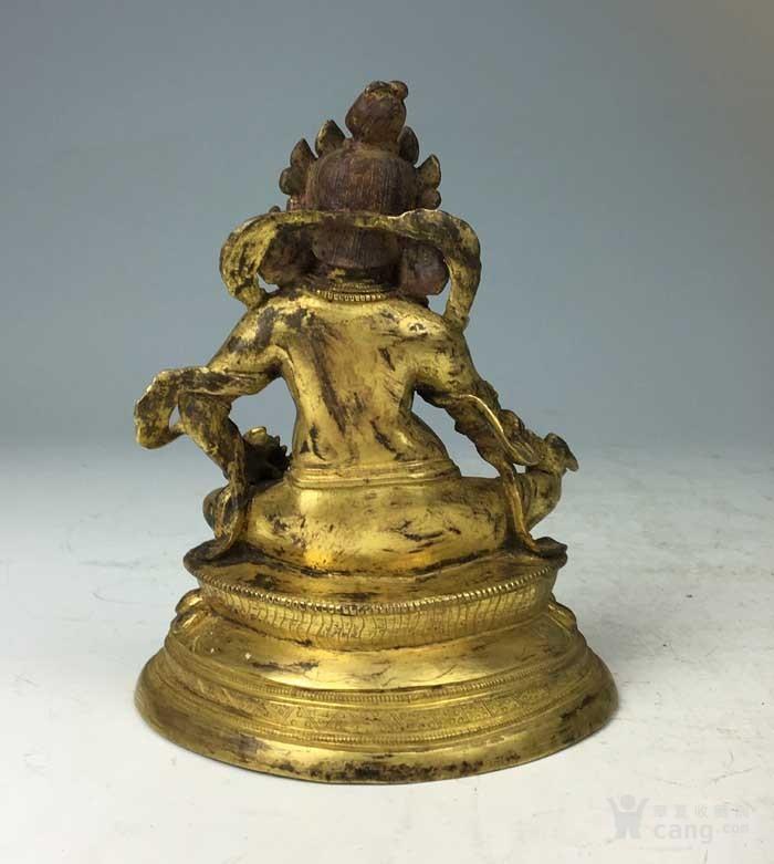 清代 铜鎏金黄财神像图3