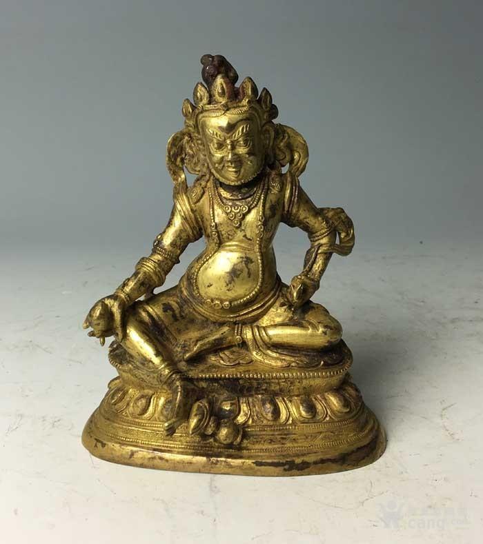 清代 铜鎏金黄财神像图2