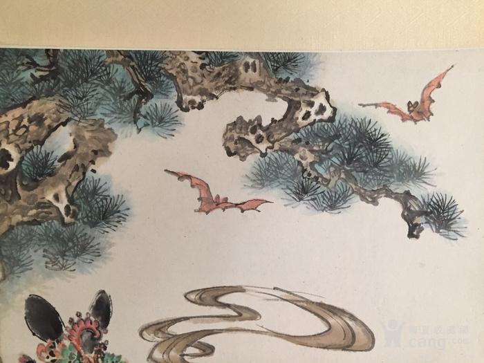 苏州劳思、谈绮芬合作《寿星写寿图》立轴图2