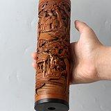 清代 竹雕 人物 精品 香筒。