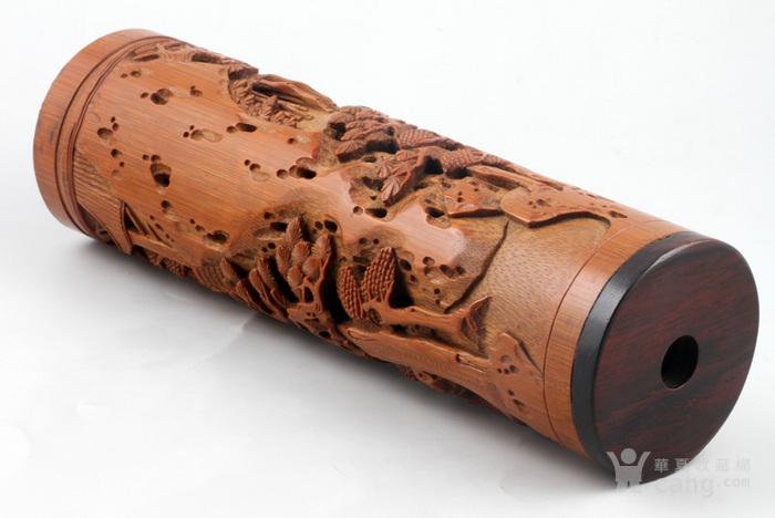 清代 竹雕 人物 精品 香筒。图3