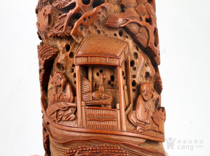 清代 竹雕 人物 精品 香筒。图6