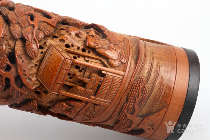 清代 竹雕 人物 精品 香筒。图7
