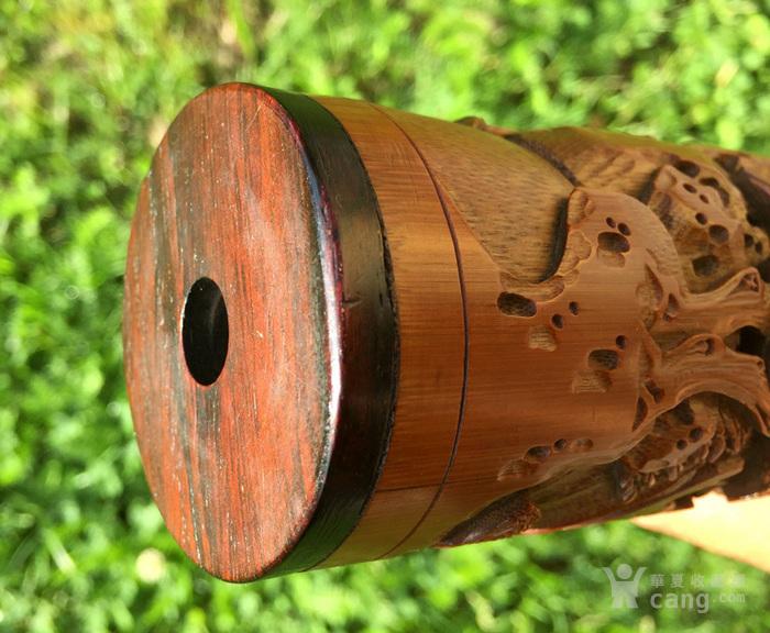 清代 竹雕 人物 精品 香筒。图12