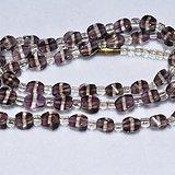 老紫色水晶项链
