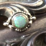 opal蛋白石 银戒指