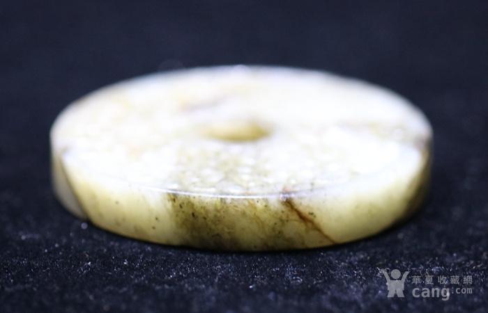 和田白玉籽料勾云纹玉璧图3
