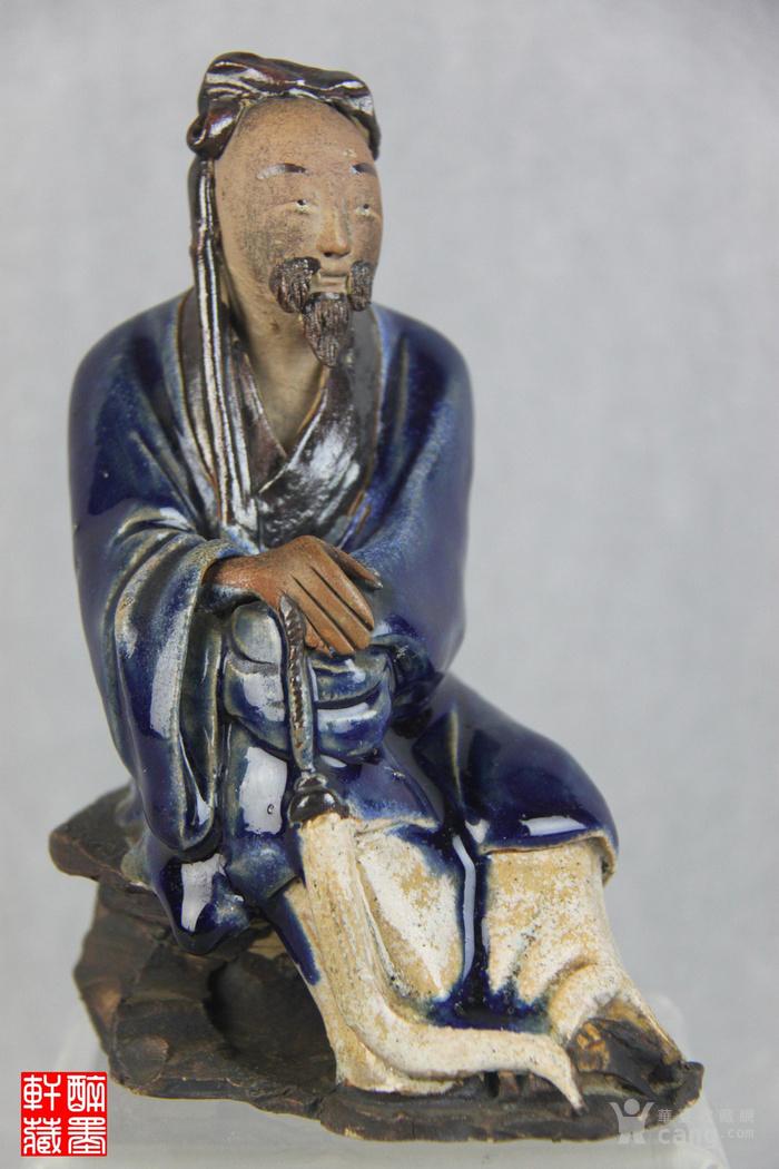 清代石湾窑人物塑像【醉墨轩】-图1