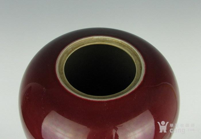 清代霁红带盖罐子图8