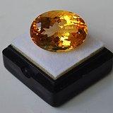 黄水晶 18.20克拉纯天然无加热巴西黄水晶 旺财石