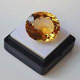 黄水晶 21.32克拉纯天然无加热巴西黄水晶 旺财石