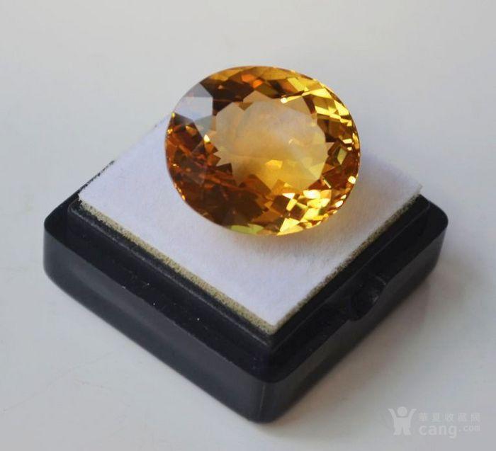 黄水晶 21.32克拉纯天然无加热巴西黄水晶 旺财石图1