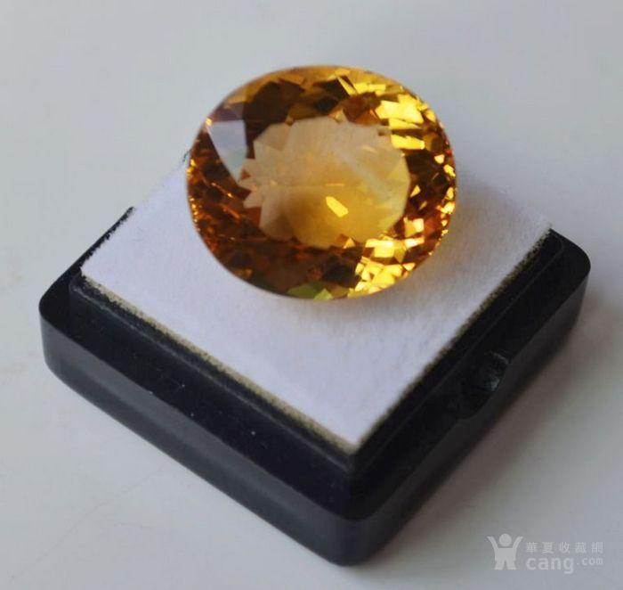 黄水晶 21.32克拉纯天然无加热巴西黄水晶 旺财石图2