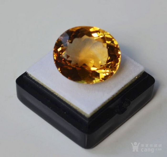 黄水晶 21.32克拉纯天然无加热巴西黄水晶 旺财石图3